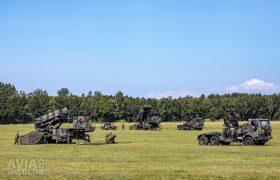 Defensie Grondgebonden Luchtverdedigingscommando mobile Patriot missile site in Marnewaard