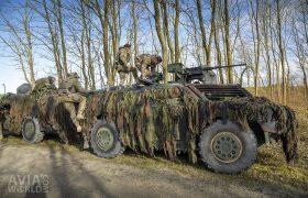 Fennek with M2 Browning machine gun