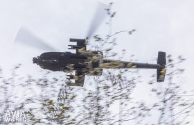 Boeing AH-64D Apache over head