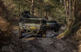 2 Fenneks of the Koninklijke Landmacht