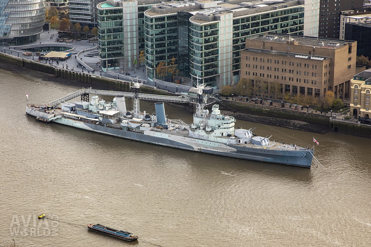 HMS Belfast from above