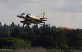 A-4 Skyhawk target towing
