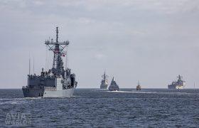 Battleships leaving Kiel Naval Base