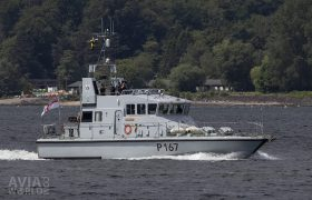 British Royal Navy Archer-class (or P2000) patrol and training vessel HMS Exploit (P167)