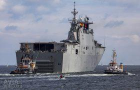 Juan Carlos I (L61) leaving Kiel
