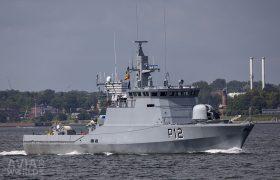 Lithuanian Navy Flyvefisken class patrol ships Dzukas (P12)