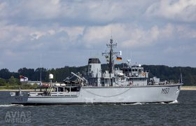 Lithuanian Navy Mineweeper LTS Skalvis (M53)
