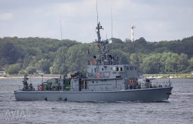 Polish Navy Mine Warfare Ship ORP Wdzydze (646)