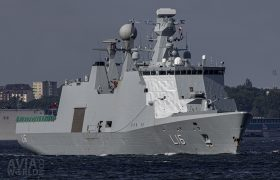 Royal Danish Navy Absalon-class command and support ship HMDS Absalon (L16)