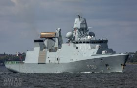 Royal Danish Navy Iver Huitfeldt-class frigate HDMS Iver Huitfeldt (F361)