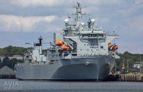 Royal Navy Auxiliary Support Ship HMS Argus (A135)