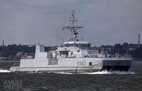 Royal Norwegian Navy Oksoy-class mine hunter Hinnoy (M343)