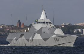 Swedish Navy Visby class corvette HMS Nyköping (K34)