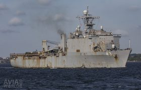 US Navy Whidbey Island-class dock landing ship USS Fort McHenry (LSD-43)