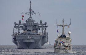 USS Mount Whitney (LCC-20) and Zr Ms Zierikzee (M862)