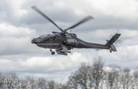 Boeing AH-64D Apache low pass