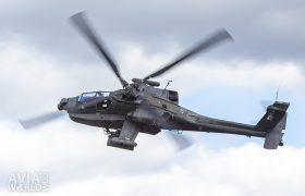Boeing AH-64D Apache banking left