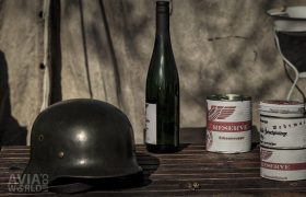 Operation Amherst - German Stahlhelm, bottle and tins