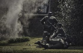 Operation Amherst - German soldiers attacking a house