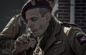 Operation Amherst - Smoking French Paratrooper