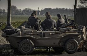 Operation Amherst - Volkswagen Schwimmwagen in a typical Dutch landscape